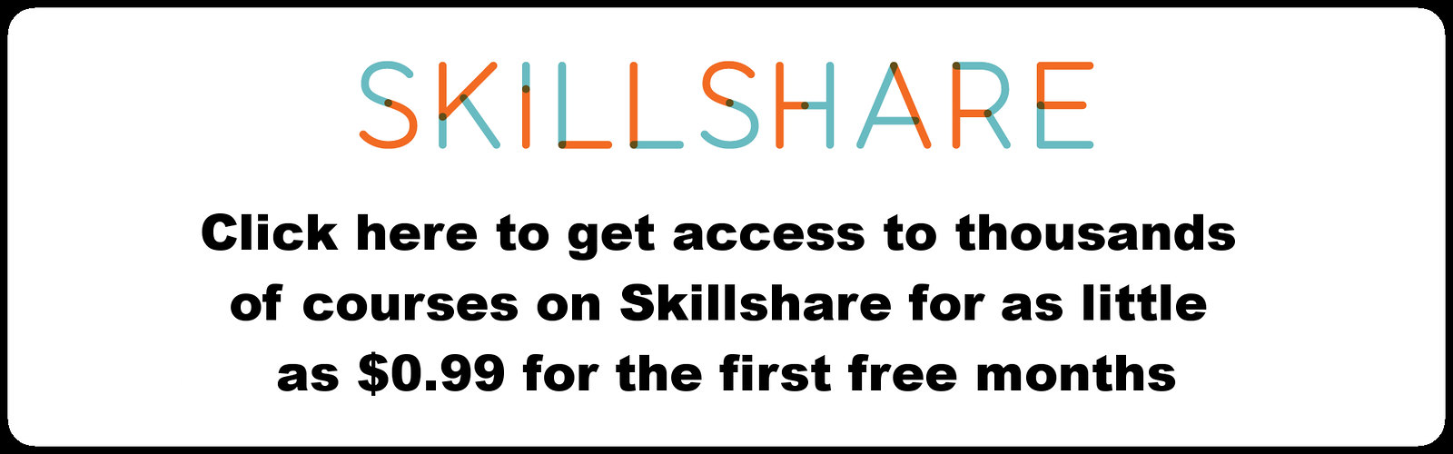 skillshare social media courses 0.99 sign up