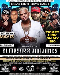 EL MAYOR ( @elmayorclasico ) & JIM JONES ( @jimjonescapo ) LIVE ON STAGE........ SATURDAY MAY 13... SPACE IBIZA IN NYC  ADV. TKTS $30 to $50 HMU FOR INFO OR TABLE RSVP... BUY ONLINE NOW 👉👉LINK ON MY BIO 👈👈 EN