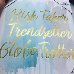 #risktaker #trendsetter #globetrotter