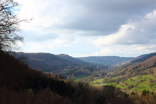View from the hills near Echternach