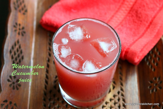 Watermelon and cucumber cooler