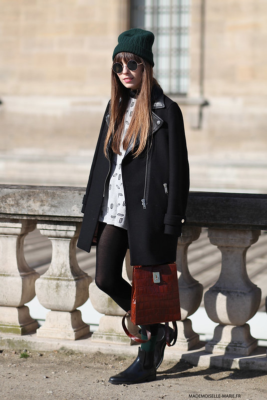 Anna Ponsa at Paris fashion week