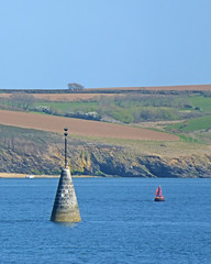 Black Rock beacon and small buoy
