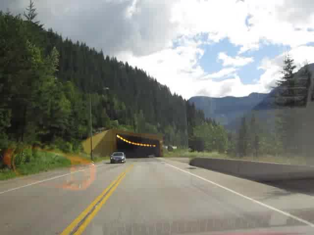 0024 Video of driving through a Snow Tunnel on the Trans-Canada Highway