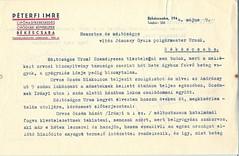 V/2.b. Péterfi Imre levele