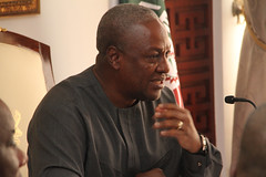 President John Mahama speaking after receiving the news of Mr. Alhassan's death