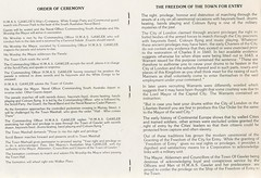 Freedom of the Town given to  HMAS Gawler 26April1986 (3)