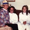 #tbt Halloween with my Twinnie and Gram 1990.   PS this time Laura has the glasses on, but not prescription ones.