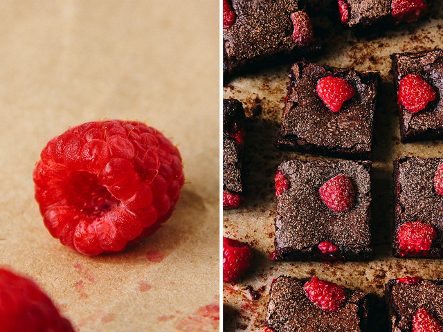 Double chocolate raspberry brownies