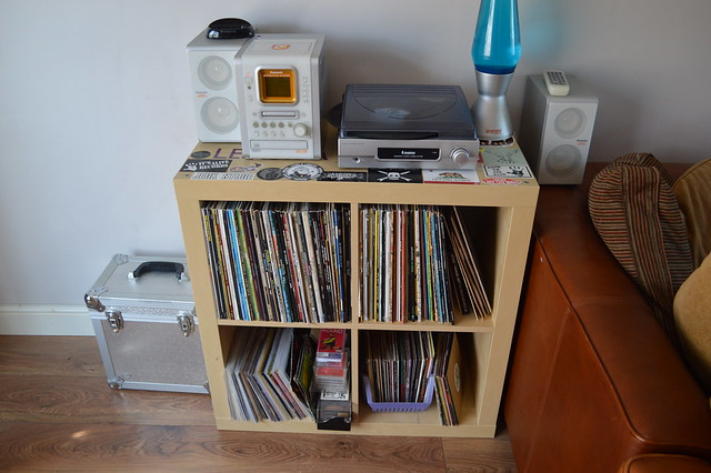 photo of my record collection