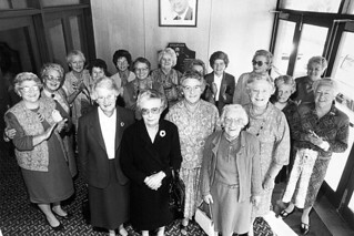 Reunion in 1987 of employees of Coles original store from 1937 in St Vincent Street, Port Adelaide