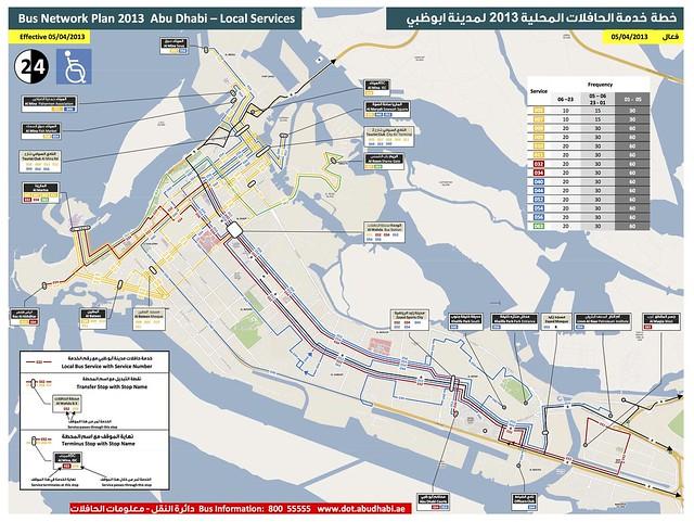 阿布達比公車路線 AD Map 13-6-2013
