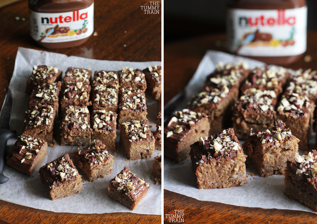 14043014097 a0b956ddde b - Banana Nutella Squares born out of excitement