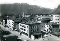 postcard - bolzano - incrocio via torino via dalmazia - 1960