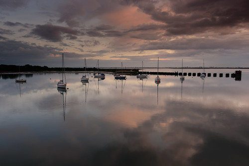 "uk sunset seascape clouds reflections still nikon quiet silent harbour dusk peaceful hampshire calm lee nd april yachts filters grad stillness tranquil d800 ""langstoneharbour"" ""haylingisland"" ""sunsetsnapper"" ""southcoast"""