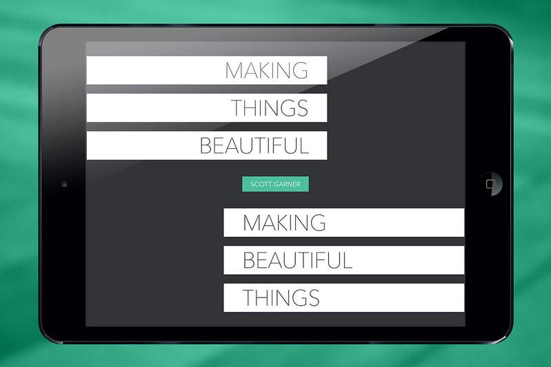 Making Things Beautiful / Making Beautiful Things: Cover