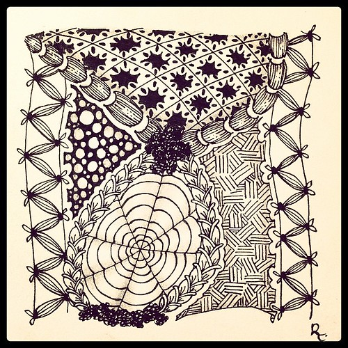 Zentangle 74 SOLD via http://www.gofundme.com/CZT-to-be #lacy #zander #dyon #bronxcheer #chainlea #ona #tipple #nekton