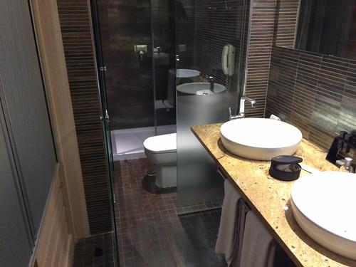 Detalle de baño de la habitación tipo Melia