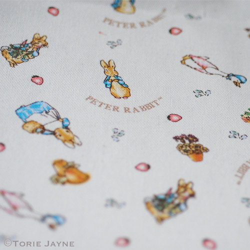 Peter Rabbit cotton canvas fabric