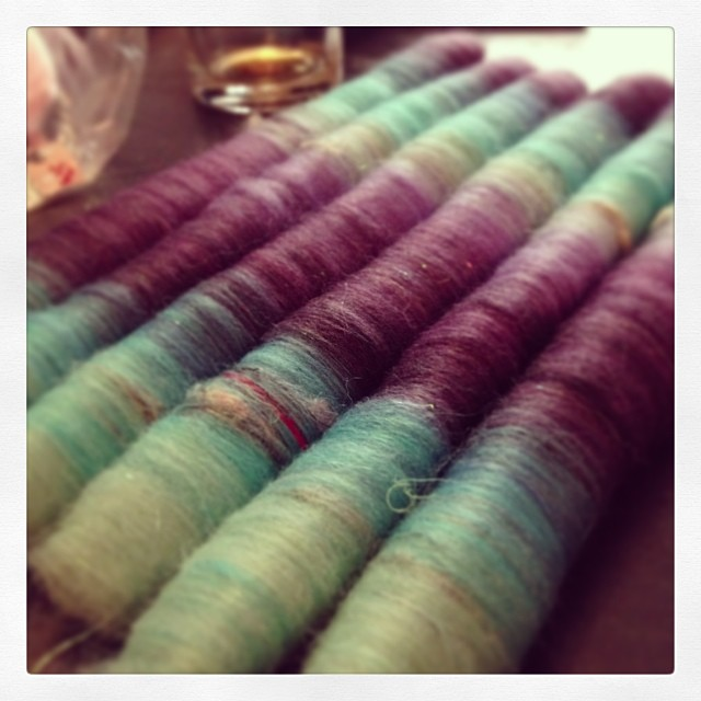 #rolags #handdyed