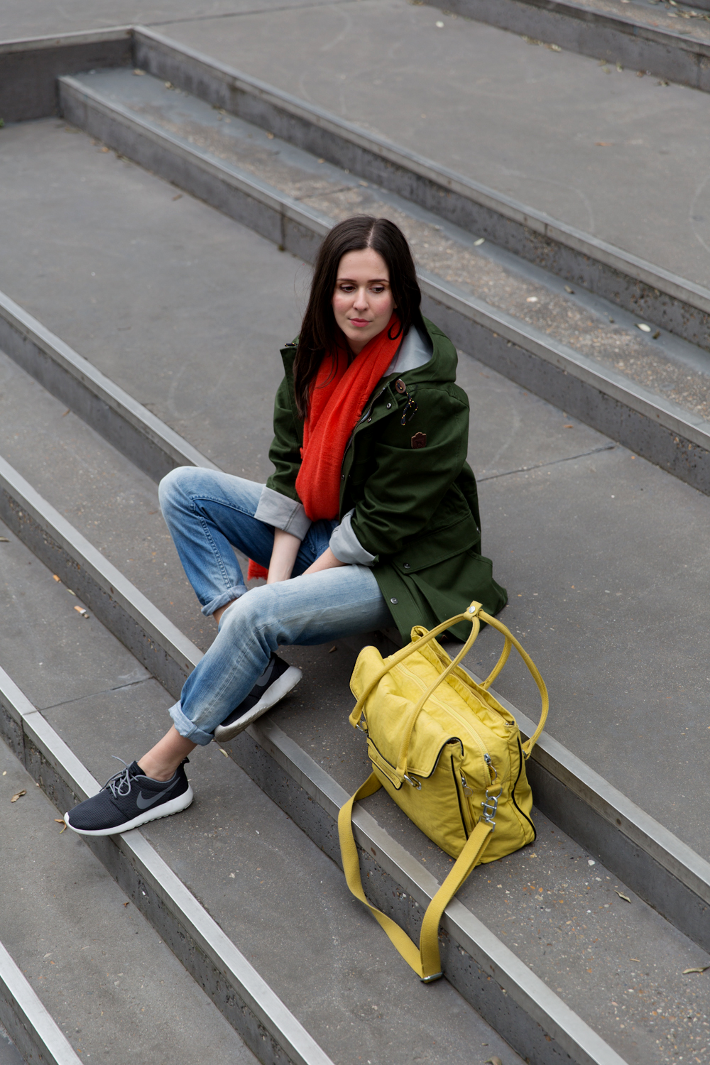 parka nike roshe run boyfriend jeans kipling city bag