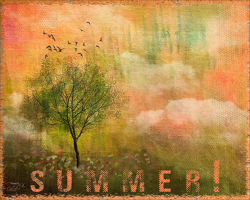 Painted image of a summer tree