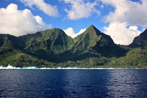 Moorea from whale watching boat