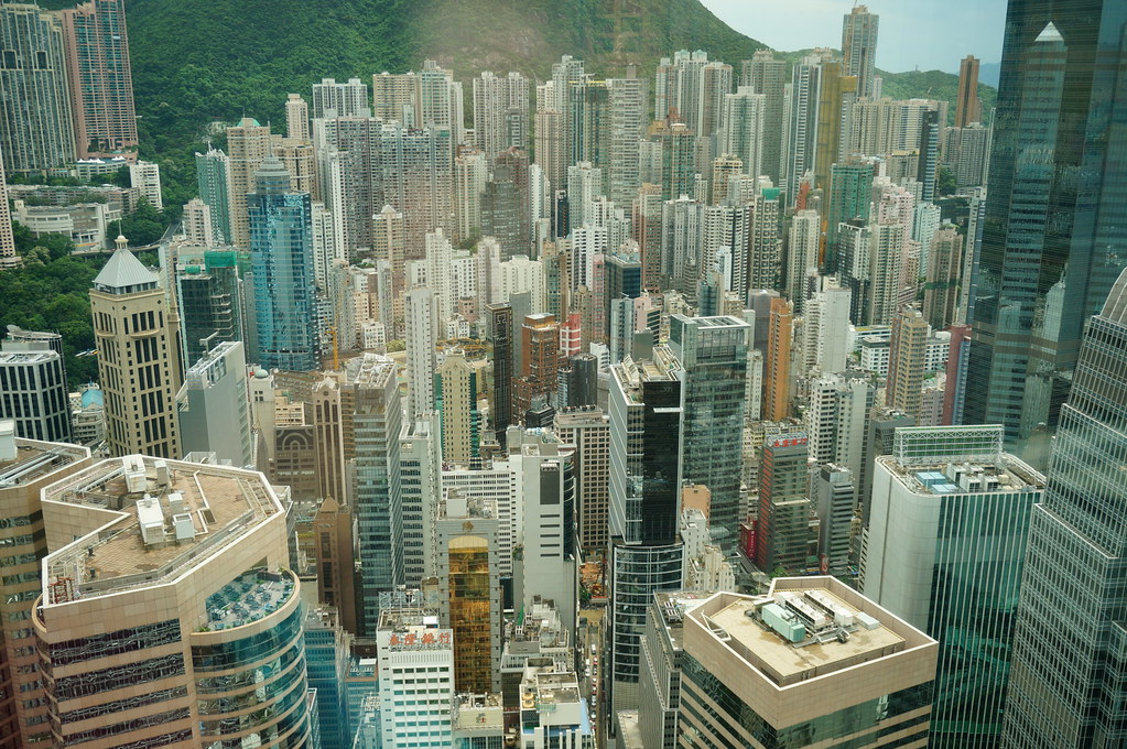 Looking down on Central Hong Kong