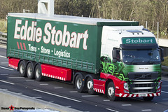Volvo FH 6x2 Tractor with 3 Axle Curtainside Trailer - PX11 BWZ - H4638 - Danica Jade - Eddie Stobart - M1 J10 Luton - Steven Gray - IMG_5113