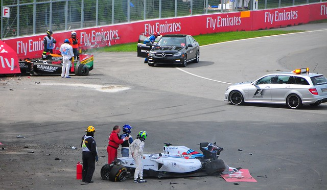 Massa Perez Crash 2014 Canadian Grand Prix 1