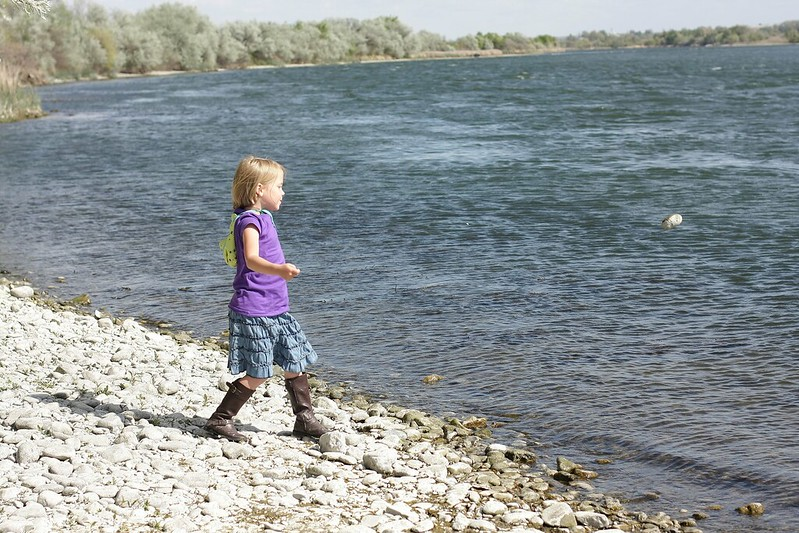 tossing rocks in snake river