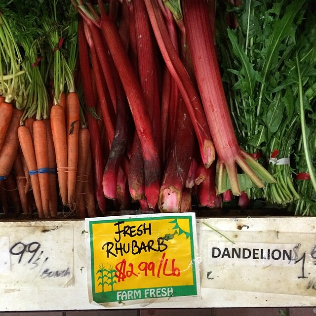 Not a bad price for bright red rhubarb!