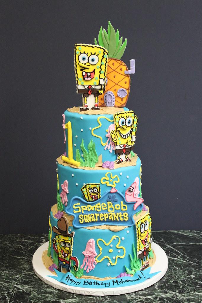 2 Tier Spongebob Cake