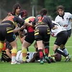 Partit de rugbi femení entre el BUC, Barcelona Universitari Club, i el Club de Rugby Carboners de Terrassa
