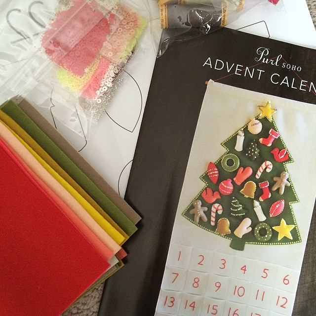 School's out for the summer! Time to start a Christmas project. I've wanted an advent calendar for SO long.