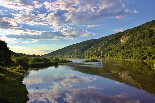 blue sunset summer panorama mountain lake reflection nature water clouds forest canon landscape bluesky cliffs bulgaria cloudysky naturephotography beautifulsky plana bulgariannature canoneos600d planamountain