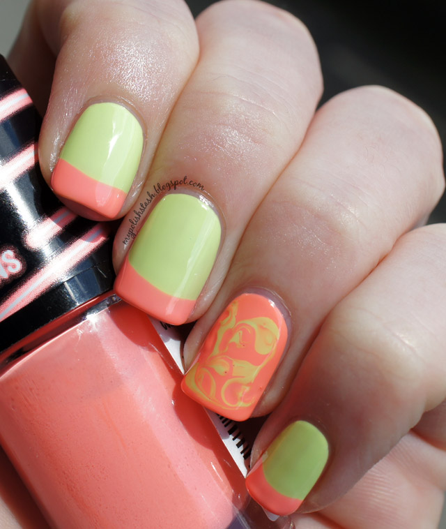 Maybelline Bleached Neons_French Manicure_3
