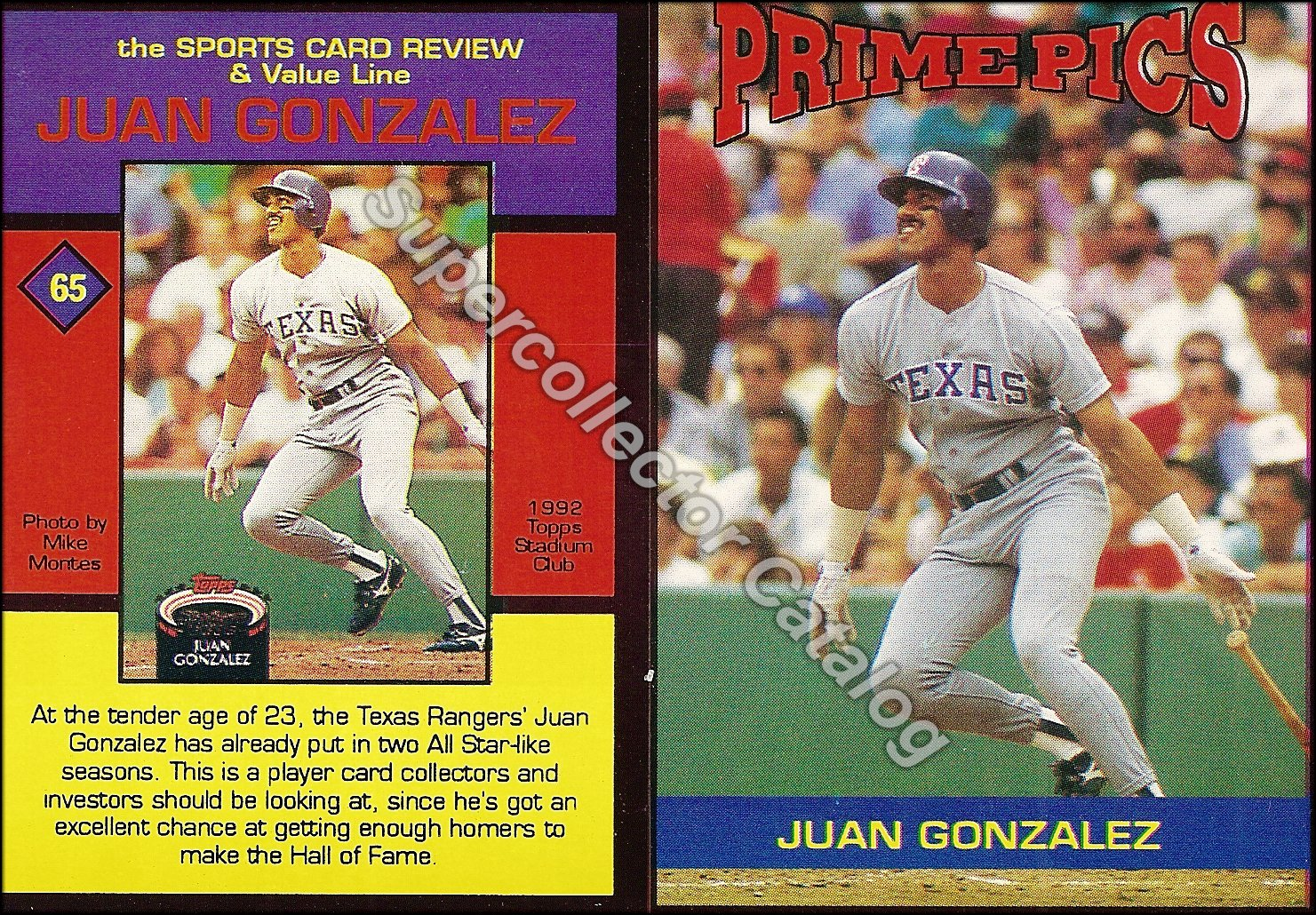 1992 Sports Card Review Prime Pics Magazine Insert