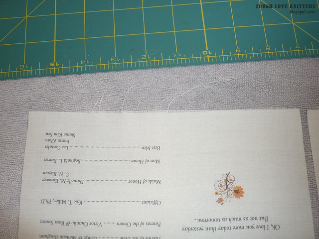 Wedding Handkerchief - Taped Edge (1)
