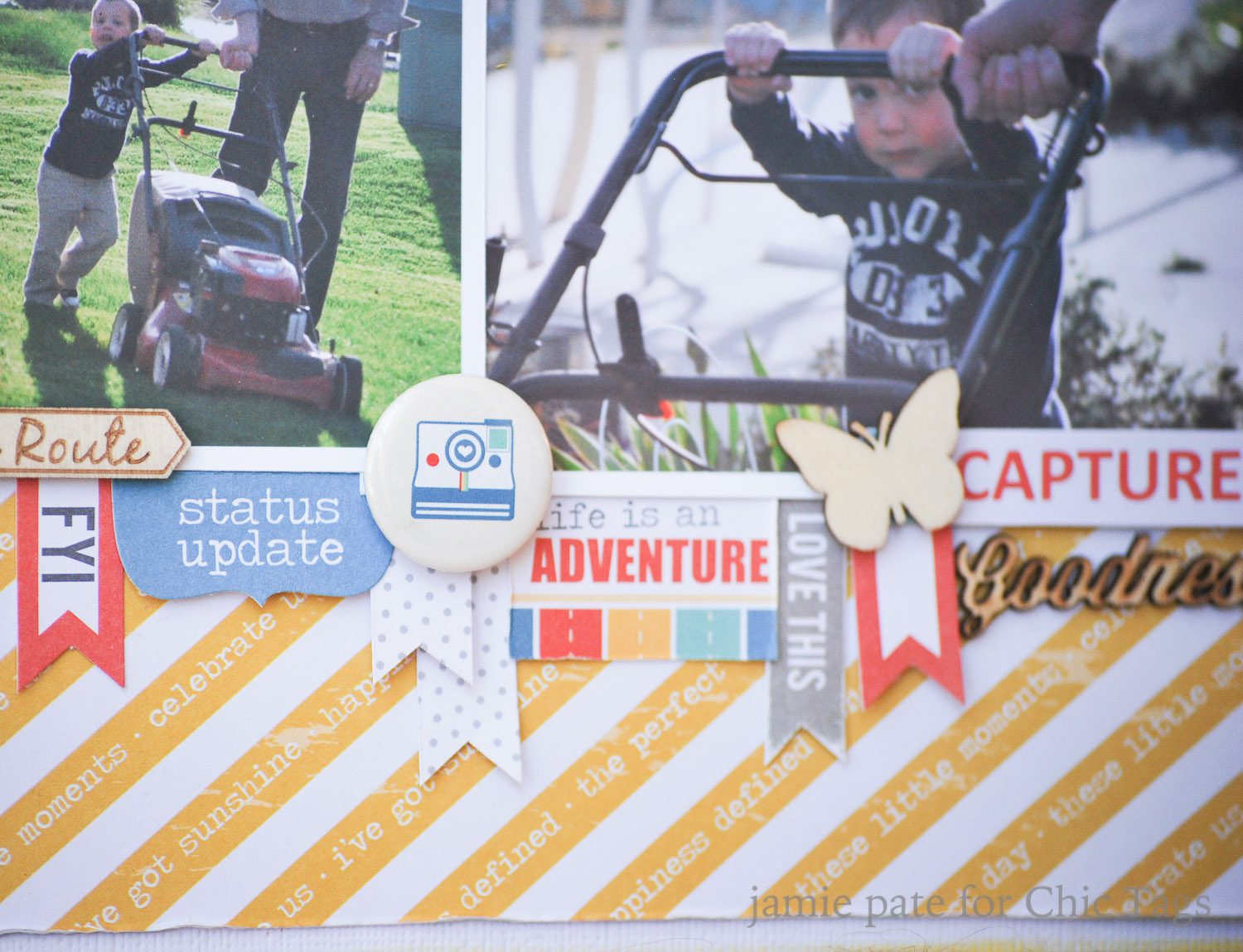 Captured! layout for Chic Tags by jamie pate