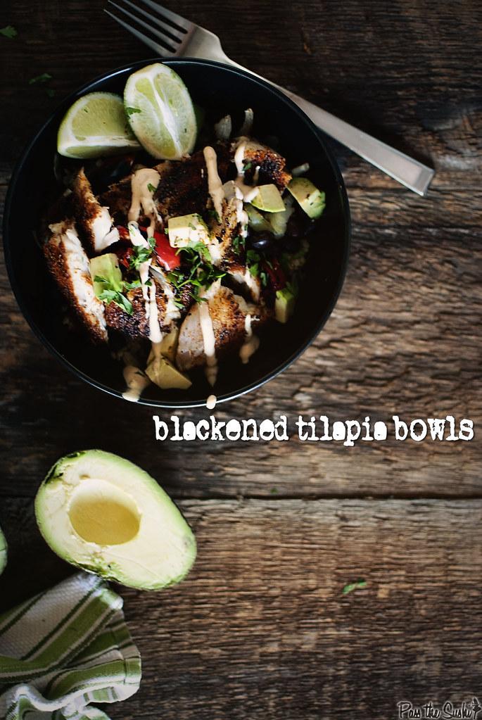 Blackened Tilapia Bowls \ GirlCarnivore.com