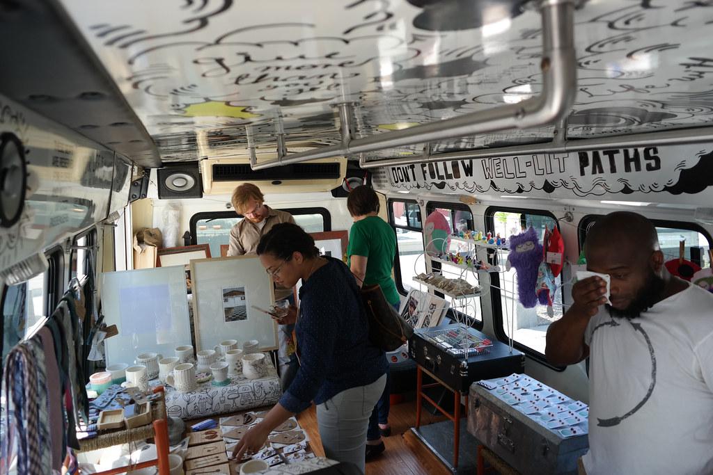 Pop Up Art Shop inside of The Pegasus