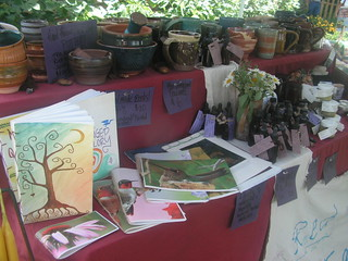 our booth at the herb fair