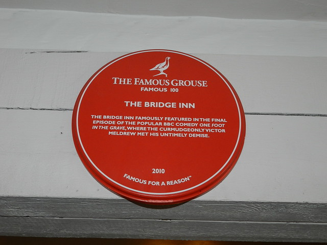 Photo of Victor Meldrew red plaque