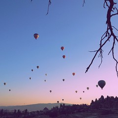 Hot Air Balloon at first light.  #goreme #cappadocia #turkey #landscape #wanderlust #surreal extraordinary place on earth. #travel
