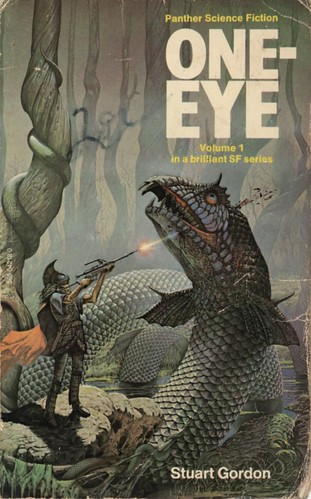 One-Eye by Stuart Gordon. Panther 1976. Cover artist Patrick Woodroffe