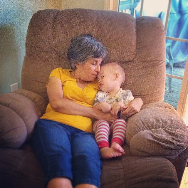 My mom soaking up reed love. @dulceknits