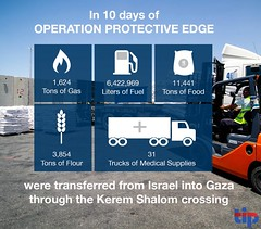 During the conflict, aid from Israel has continued to flow into Gaza