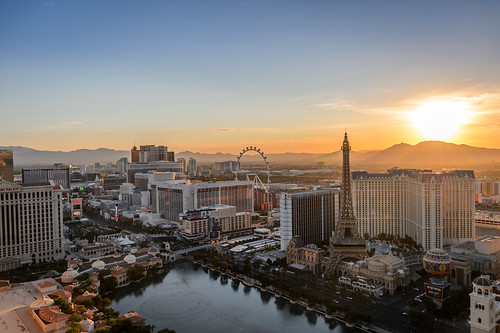 The Desert Sun Rises Over Las Vegas by Geoff Livingston