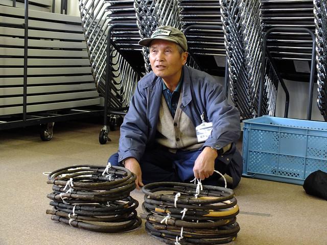 今回の講師は,はらっぱー米やはらっぱー大根などでもお馴染みの坂井先生.